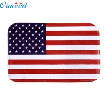 Ouneed Beauty Happy Gifts High Quality Coral Fleece 40cm*60cm American Flag Mat Outdoor Indoor Antiskid Decor Doormat(China)