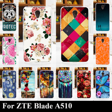For ZTE Blade A510 Soft Silicone tpu Plastic Mobile Phone Cover Case DIY Color Paitn Cellphone Bag Shell Free Shipping A510
