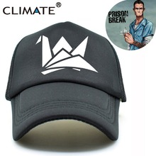 CLIMATE Prison Break Paper Crane Black Summer Cool Caps Michael Scofield Fox River Fans Mesh Summer Trucker Caps Hat Men Women
