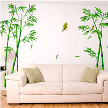 Big 2pcs/set Deep Bamboo Forest 3D Wall Stickers Romance Decoration Wall Home Decor DIY living room decal stickers quality sale