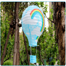 10 Pcs 12inch Rainbow Hot Air Balloon Paper Lantern Fire Sky Lantern for Wedding/Birthday Party/Christmas Decoration