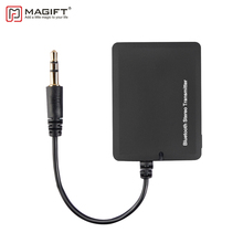 Magift Bluetooth Transmitter Wireless Bluetooth Audio 3.5mm A2DP Stereo Double Adapter for iPod Headphones TV Mp3 Car Speaker(China)