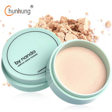 By Nanda Translucent Pressed Powder with Puff Smooth Face Powder Makeup Foundation 3 Color Waterproof Loose Powder Skin Finish(China)