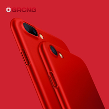 For Apple iPhone 7 6 6S 5 5S SE Case For iPhone 7 6 6S Plus Red Phone Case Cover Luxury Hard PC Back Cover 360 Full Back Cover(China)