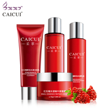 caicui skin care set foam cleanser face toner emulsion snail creams whitening moist anti wrinkle beauty cosmetic sets face care(China)