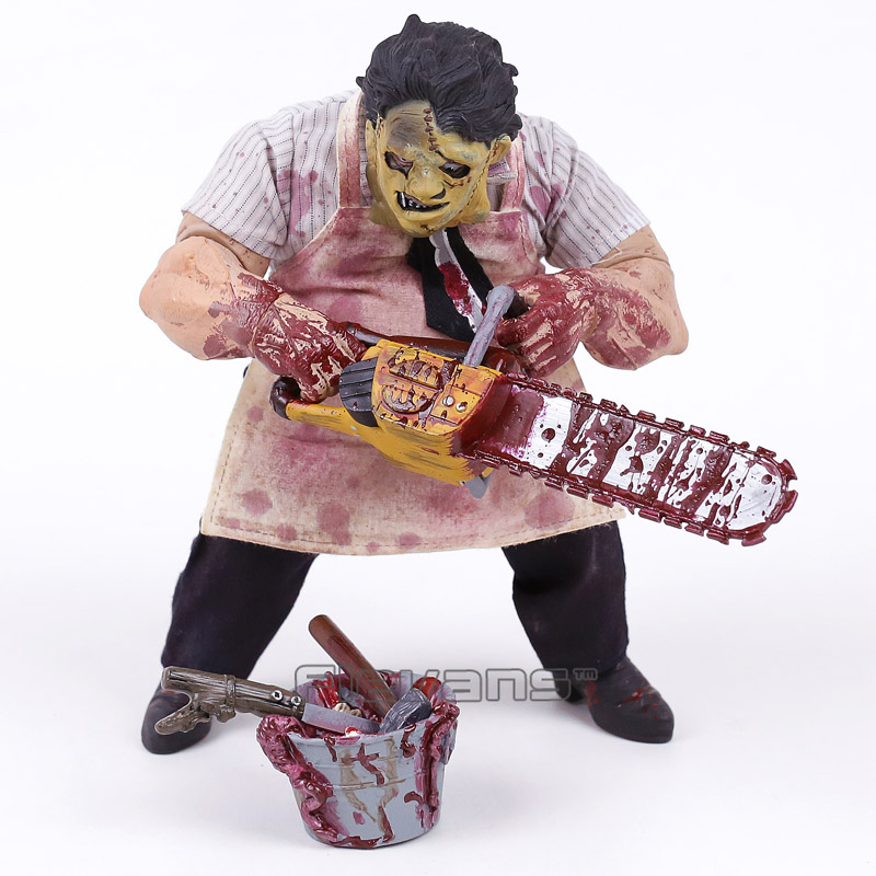 Mezco Saw The Texas Chainsaw MASSACRE Leatherface Horror Action Figure Statue Collectible Model Toy 23cm<br>