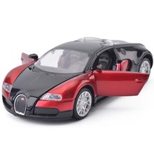 1:32 Scale Bugatti Veyron Alloy Diecast Car Model Pull Back Toy Cars Electronic Car with light & sound Kids Toys Gifts New P45(China)
