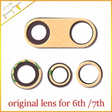 10pcs new real original Rear Back Camera Glass Lens With sticker For iPhone 6 6plus 6s 6s plus 7 7 Plus Camera Sapphire lens(China)