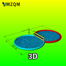 MZQM outdoor large inflatable pool L17.6XW10H1.8 m type swimming pool with inflatable Water volleyball pool(China)