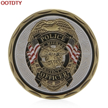 Collectible Coin St Michael Police Officer Badge Patron Saint Commemorative Challenge Coin Art