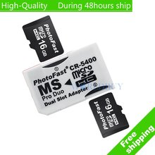High Quality Dual Micro SD TF to Memory Stick MS Pro Duo Adapter CR-5400 CR5400