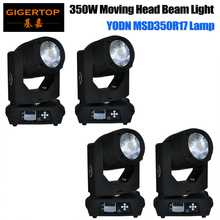 Discount Price 4 Pack Dj Light 350W 17R Beam Moving Head Light High Precision Optical Lens Linear Adjustment Focus Smooth Dimmer