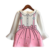 New girl dress autumn winter kids wedding dresses for girls clothes long sleeve princess dresses fashion children clothing