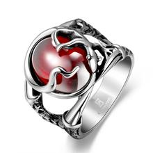 Hot sale 925 Tibet silver jewelry The snake ring red pearl ring good for female fashion gift factory direct sales YR189