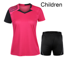 Free Printing Children Table tennis clothes boy , girl sports Tennis tracksuit , boy Badminton suit , Tennis wear suit 5062B(China)