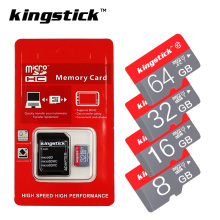 Kingstick micro sd card mini TF memory card Class 10 SDHC/SDXC T-Flash 4GB 8GB 16GB 32GB 64GB microsd with free adapter