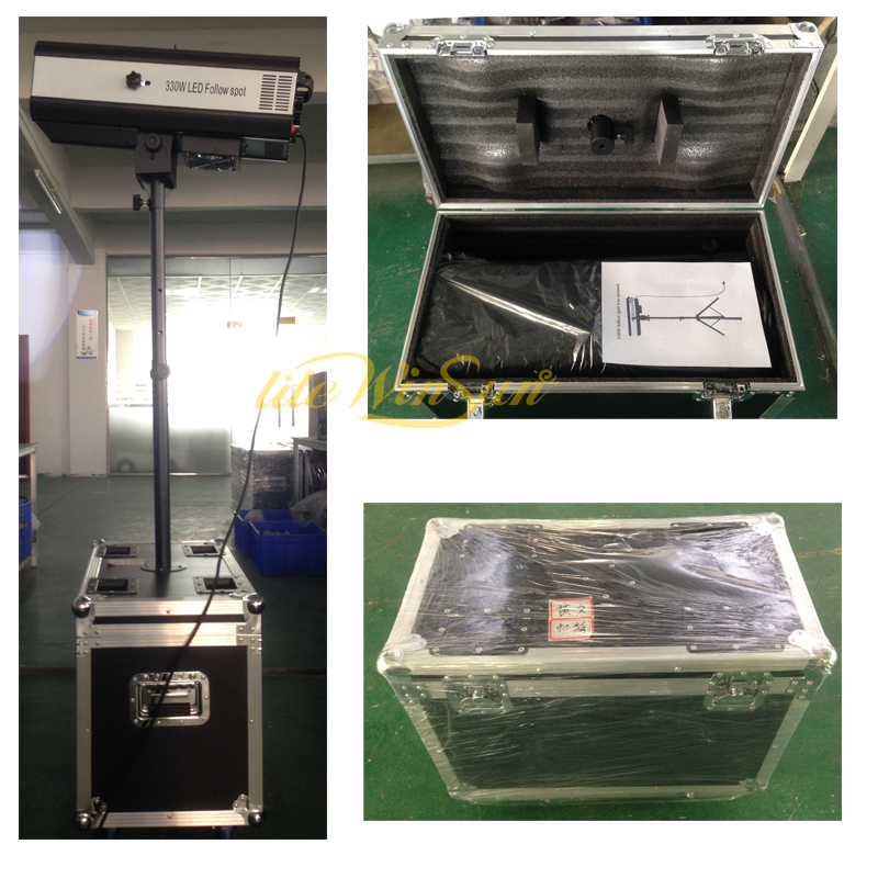 led dimming follow spot lighting with flight case road case