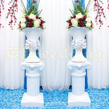 European Style Roman Columns White Color Plastic Pillars Road Cited Wedding Props Event Decoration Supplies