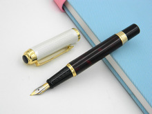 wire drawing wave design Milky white Calligraphy Nib Fountain Pen(China)