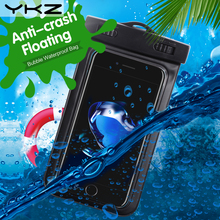YKZ Waterproof Phone Bag 5.5 inch IPX8 Universal Water Proof Pouch Phone Case for iphone 7 7/plu iPhone 6 6 Plus Samsung Xiaomi(China)