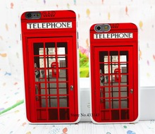 Vintage London Telephone Box Style Hard White Cover Skin Back Case for iPhone 6 6s 6 plus
