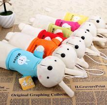 New Cute Cartoon Kawaii Plush Pencil Case Creative Lovely Rabbit Pen Bag For Kids Gift School Supplies Free Shipping(China)