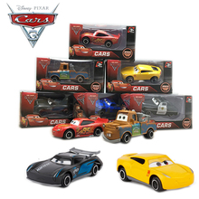 1:64 Disney Pixar Cars 3 Metal Lightning McQueen Black Storm Jackson Curz Daniel Mater Car Toys Kids Birthday Christmas Gift(China)