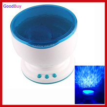 Hot selling Sleep Night Lamp LED Light Star Projection Projector Ocean Sea Daren Waves Projection Lamp Toy with Speaker Gift