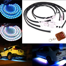 Car Chassis Ligh Auto Music Light Interior Atmosphere Neon Lights SUV Floor Strip Lamp Music Remote Control Colorful transform(China)