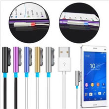 Magnetic Aluminum Metal USB Charger Cable LED For SONY XPERIA  Z1 Z2 Z3 COMPACT