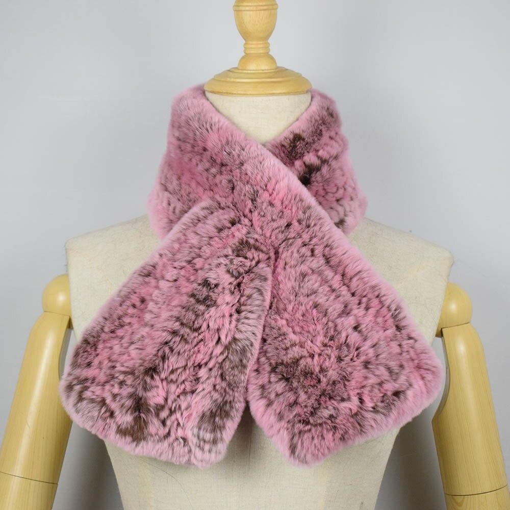 rex rabbit fur scarf short 12
