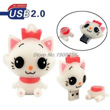 Cute usb flash drive cat  pen drive 32gb 16gb pendrive 8gb memoria usb stick 4gb usb2.0 memory stick Free Shipping