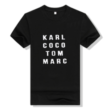 2017 Summer Men & Women Black karl coco tom marc American T shirt Woman Tee Fashion Tops Street Hippie Punk Men & Womens Tshirts