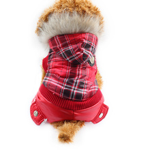 Armi store Red Plaid Design Dog Coat Dogs Winter Warmth Windbreaker Coats 6141026 Pet Clothes Supplies