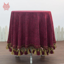 Free Shipping luxury European style square Table Cloth multi-color Dining Table Cover tassel decor for home decoration SP2296