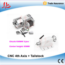 CNC Engraving Machine Parts CNC Tailstock and Rotary Axis, A Axis, 4th Axis, CNC Router Engraver Milling Machine