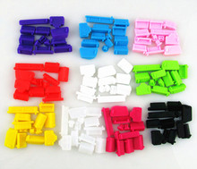 Wholesale 10bags/lot(13pcs/bag) Silicone PC laptop dustproof plug  usb dust plug Anti Dust Plug Cover Set Stopper