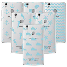 Phone Case for Doogee mix mix2 BL5000 7000 X10 20 30 Shoot1 2 Sea style Cute TPU Transparen Soft Silicone Back Cover(China)