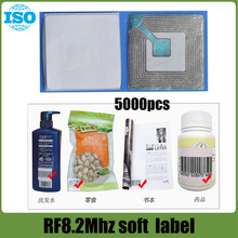5000pcs EAS 8.2MHz Checkpoint Compatible soft Label RF Tags 40mm*40mm(China)