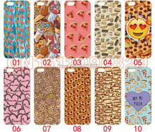 Pizza Emoji Cover Case For iPhone 6 6S Plus 5S 5C 4S iPod Touch 6 5 4 For Samsung Galaxy S2 S3 S4 S5 Mini S6 S7 Edge Note 3 4 5