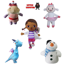 Girls 2015 Doc McStuffins Doctor Friend Girls & Dragon & Sheep & Hippo 30cm Big Size Plush Toys Stuffed Dolls Brinquedos Gift(China)