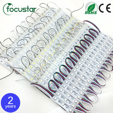 100 pcs/Lot 5050 LED Modules Waterproof IP66 Led Modules DC 12V SMD 3 Leds Sign Led Backlights For Channel Letters White