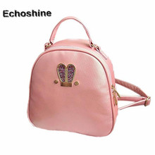 2016 hot sale Women Fashion cute PU Leather Rabbit Ears Travel Satchel Shoulder Bag Backpack gift free shipping & wholesale