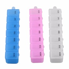New Mini Portable Empty Braille 6 Cells Pill Medicine Drug Storage Case Box(China)