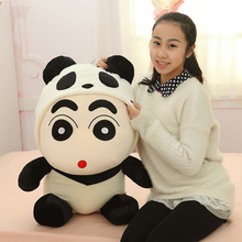 45CM One Piece Lovely Crayon Turned Panda Kawaii Plush Toy Super Soft PP Cotton Stuffed Doll Birthday Gift Creative Pillows