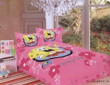 spongebob print bedding single twin size bed quilt duvet cover set bedclothes Girl's bedroom decoration cotton fabric pink 3-5pc(China)