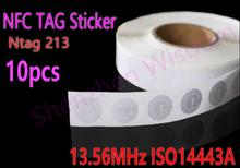 10pcs NFC Tag Sticker 13.56MHz ISO14443A Ntag213 NFC Sticker RFID Tag