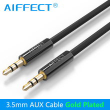 AIFFECT Jack 3.5mm Auxiliary AUX Audio Cable Male to Male AUX Stereo Flat Audio Cable for Car Headphone Phone MP3/4 AUX Cable