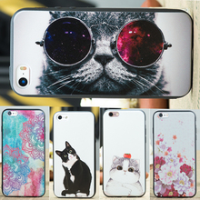 Funny Cat Dog Owl Flowers Pattern TPU Cover Case for iPhone 6 6s Plus 5S 5 SE 7 7plus Back Fundas Soft Silicone Phone Cases