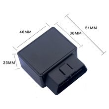 2017 Mini Auto OBD Car GPS Tracker GSM Vehicle Tracking Device 16-pin OBD standard interface small gps locator with Software AP(China)
